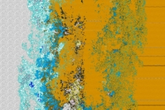 Abstract Background Pattern Or Wallpaper With Shades Of Blue And Yellow