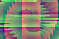Green Pink Generated Abstract Artwork
