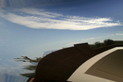 Abstract Viewing Sky and Desert From Patio