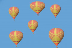 Group Of Hot Air Ballons