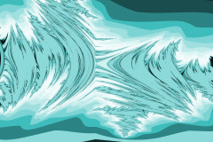 Abstract Tumultuous Ocean Waves
