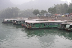 Docking Boats Tourist Area China
