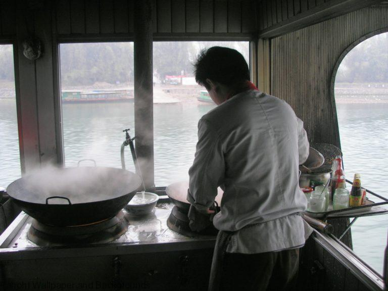 Chinese Photo Downloads - Cooking On Boat in China